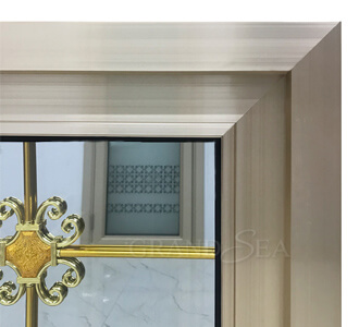 gold aluminum sliding window