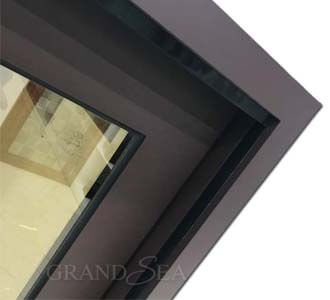 coffee aluminum sliding window