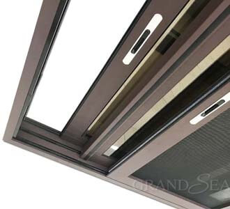 aluminum sliding window with mesh