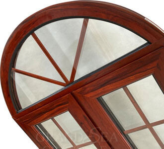 arched aluminum swing windows