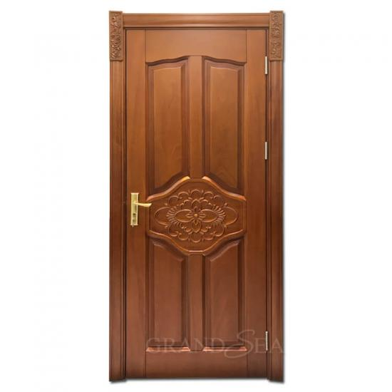 cherry wood front door
