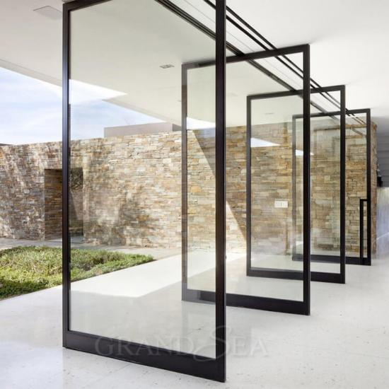 commercial pivot doors